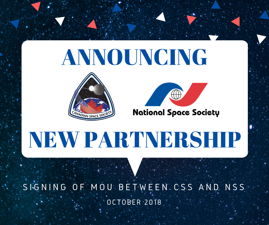 The Canadian Space Society and National Space Society sign MOU