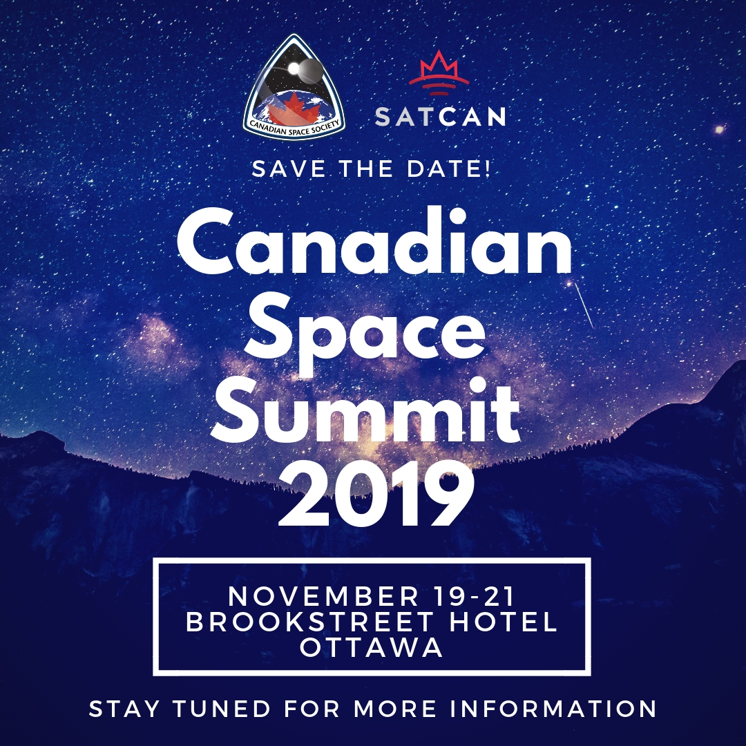 Announcement of the Canadian Space Summit 2019