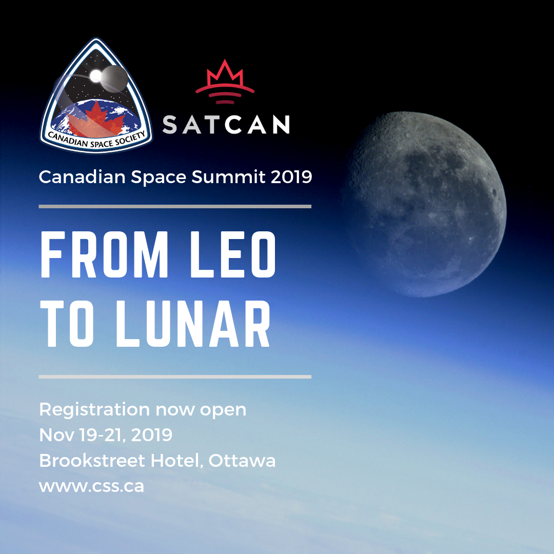 Theme announced for the Canadian Space Summit 2019
